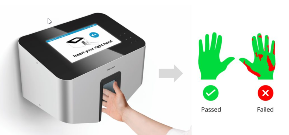 Hand in scan pass and fail
